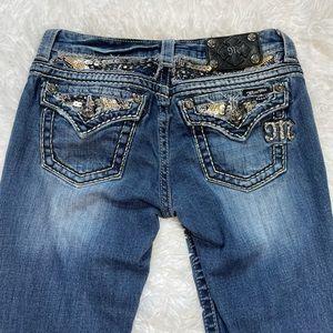 Miss Me Blue Denim Easy Capri Jeans